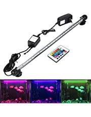 GreenSun LED Lighting 48cm LED Aquarium Light, Fish Tank Light with Remote Control, RGB Colors, 5.8 Watts Submersible Waterproof Strip Bar Light