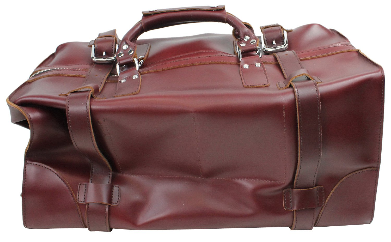 Vagabond Traveler 21'' Cowhide Full Leather Travel Duffle Bag (Heavy 7LB) L08.WR by Vagabond Traveler