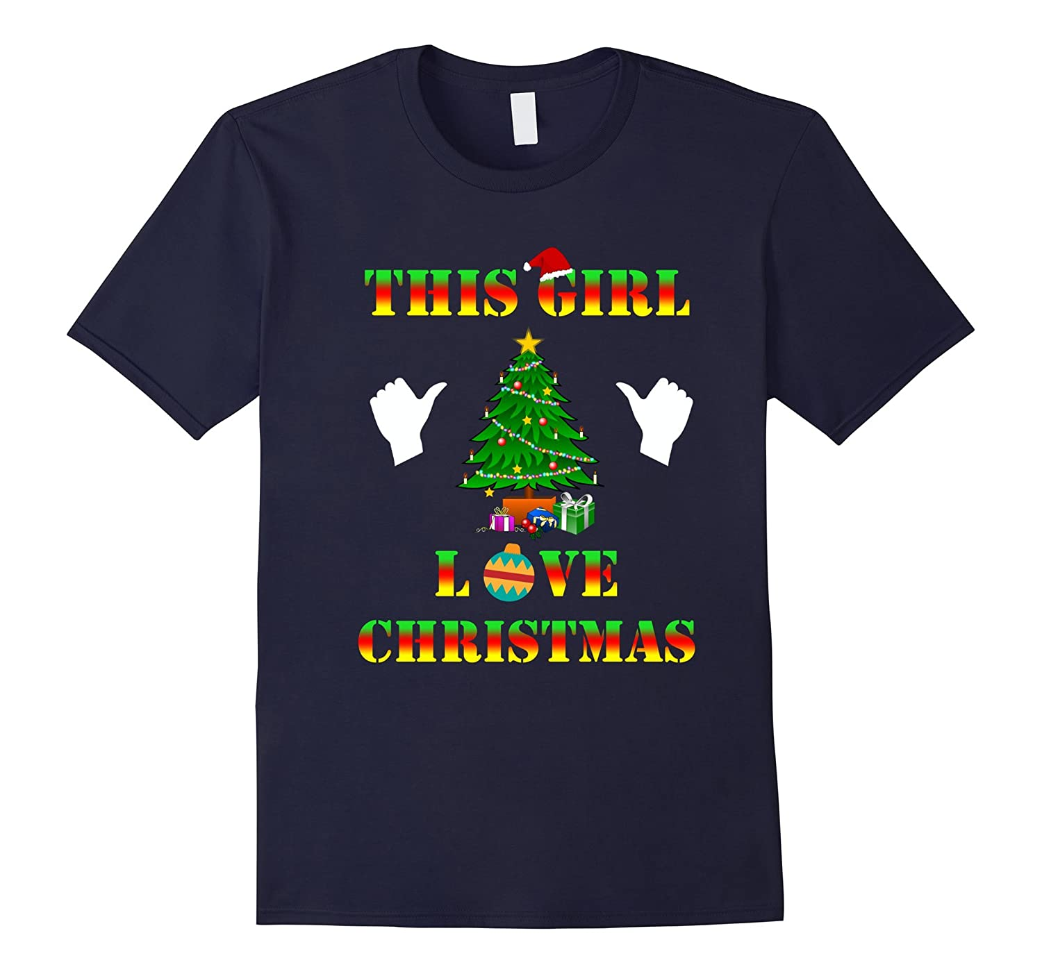 This Girl Loves Christmas T-shirt-CL