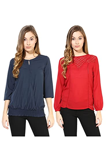 d8e8001df The Vanca Women s Stylish Tops Combo Pack Of 2  Amazon.in  Clothing ...