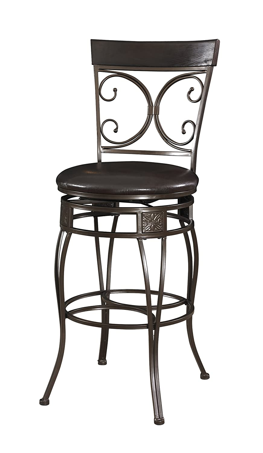 Amazon.com: Powell Company Big And Tall Back To Back Scroll Barstool:  Kitchen U0026 Dining Part 81