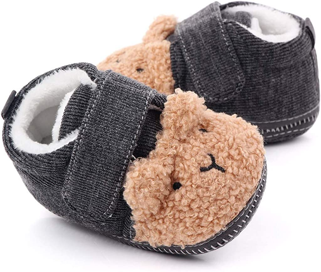 Toddler Infant Kids Crown Furry Baby Cotton Shoes Walking Shoes Baby Shoes Cotton Boots Shybuy Baby Boy Shoes