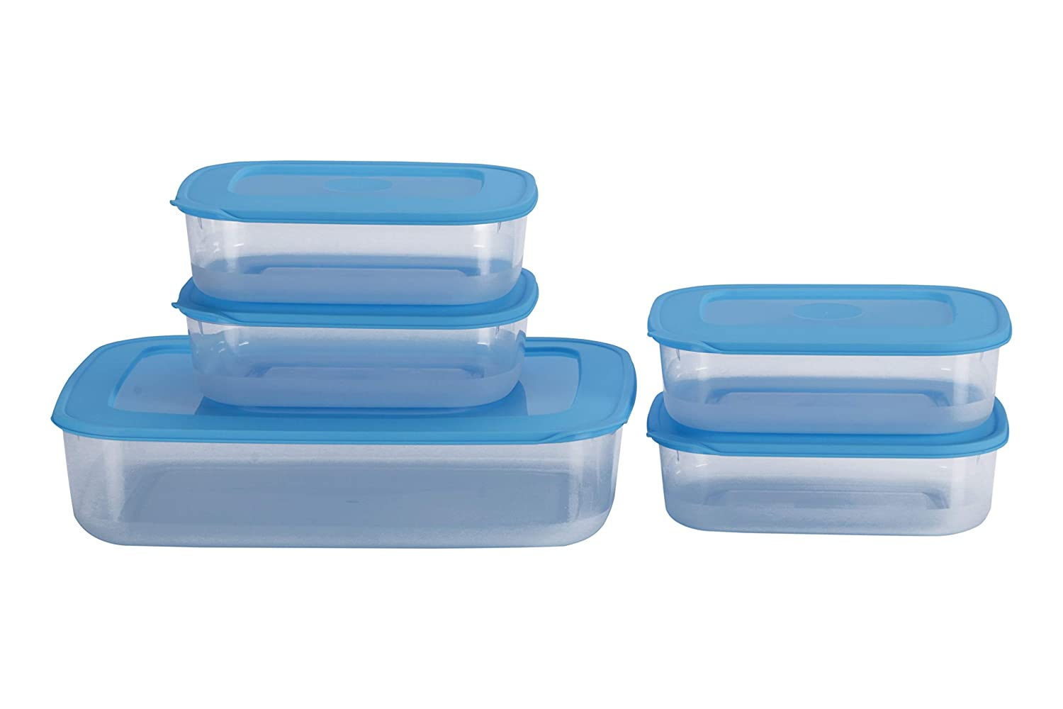 All Time Basic Plastic Container Set, 5-Pieces, Blue RS 160 at Amazon