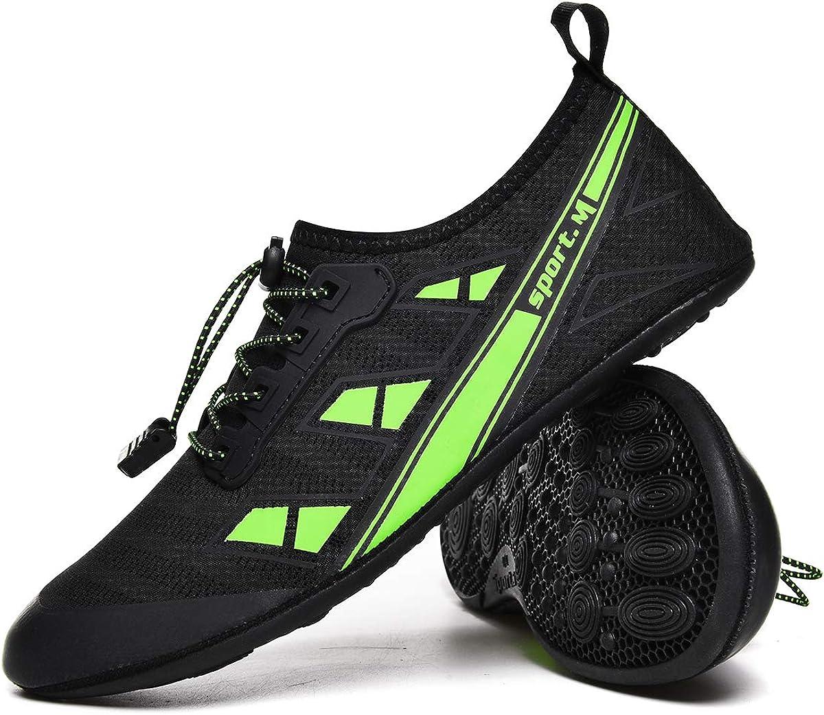 Kedeame Adjustable Elastic Slip-on Water Shoes Barefoot Quick-Dry Yoga Socks for Womens Mens