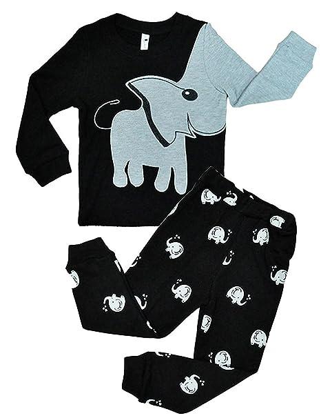 Garsumiss Pijamas para Niños traje de Elefante Vestido de fiesta de ropa de algodón de manga