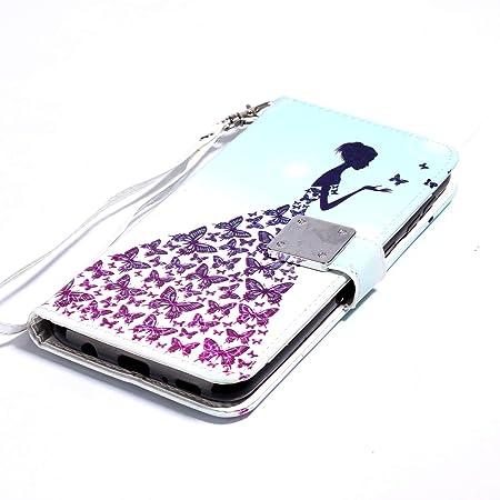 WIWJ Funda Samsung Galaxy M30 Carcasa 3D Espejo Disney PU Piel ...