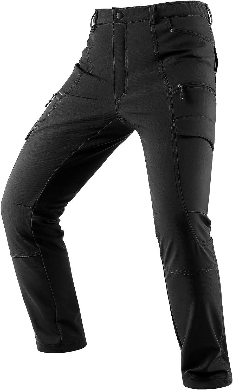 Homme Fourrure Doublé Thermique Pantalon Outdoor Hiver Chaud Casual Pantalon De Survêtement Bottoms