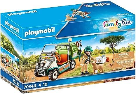 Playmobil careful with baby monkey