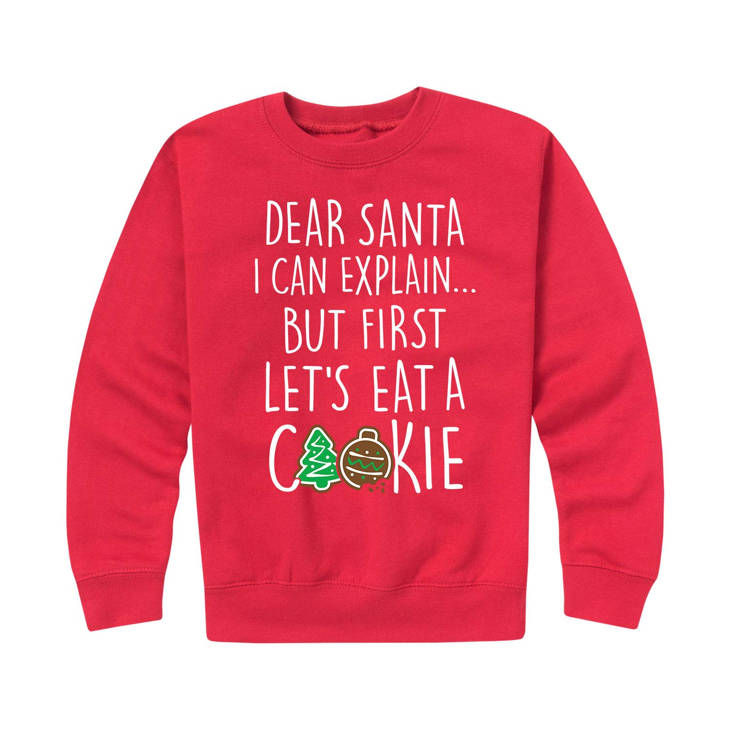 Toddler Crew Fleece Instant Message But First Cookie