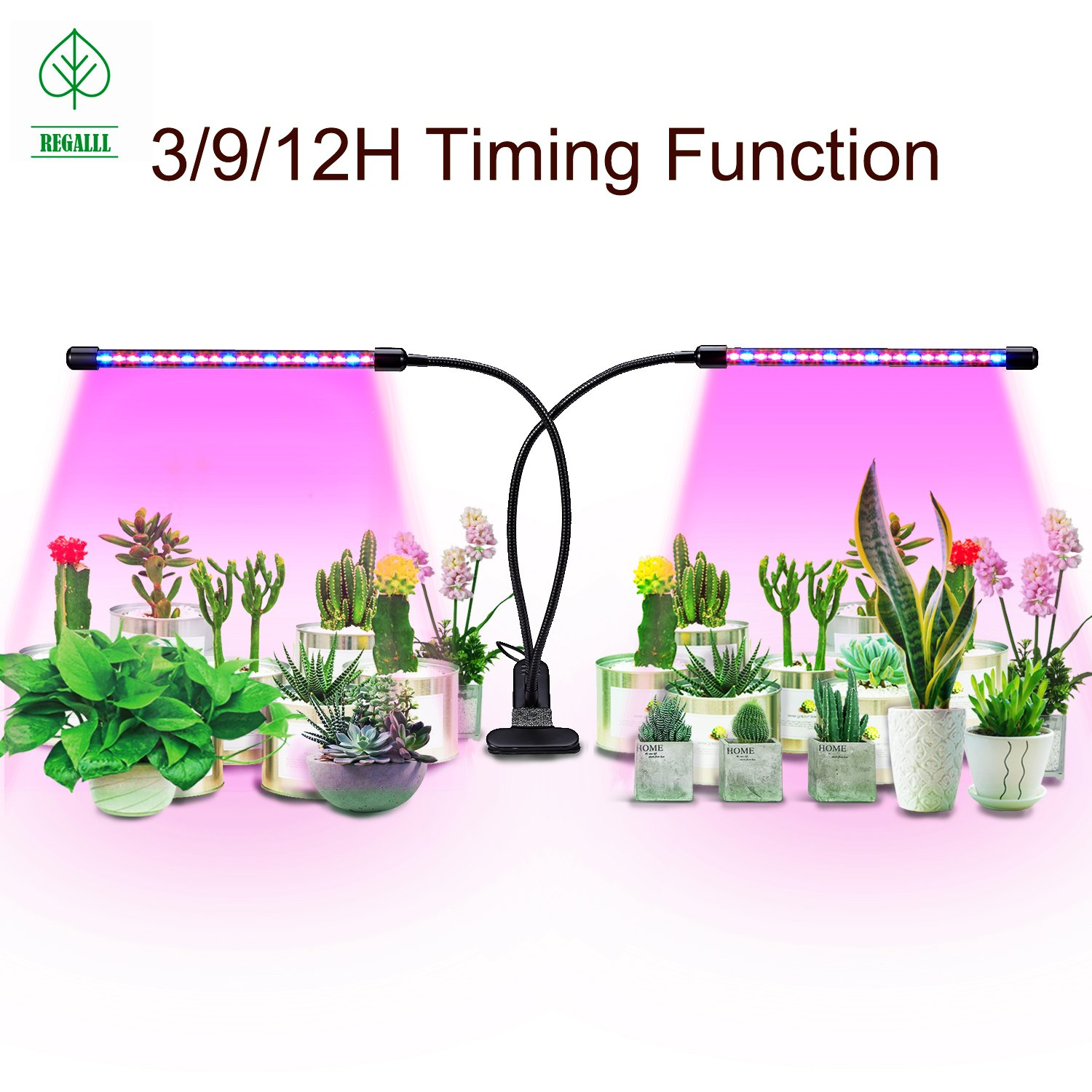 Led Grow Light with Timing Function 40 LED Dimmable Plant Grow Lights for Indoor Plants