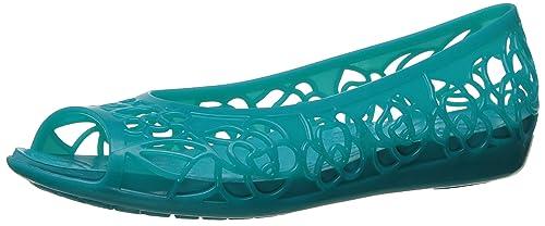 fecdf710 Crocs Isabella Jelly Flat W Tur, Bailarinas para Mujer