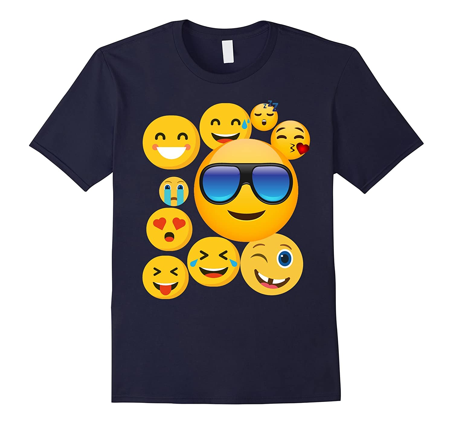 emoji wear -shirt Emoticon Cute smileys Face T-Shirt-Vaci