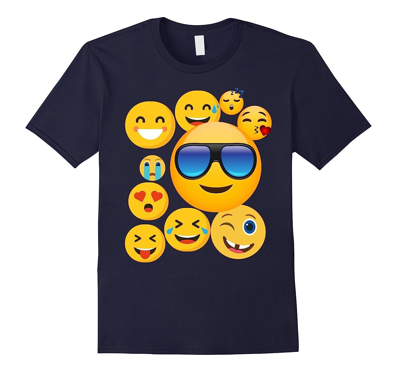 emoji wear -shirt Emoticon Cute smileys Face T-Shirt-Vaci