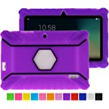 Turpro Kids' Shockproof Silicone Case for Chromo Inc 7 inch, Alldaymall A88X, Dragon Touch Y88X Plus/Y88X, VURU A33, NPOLE 7 Inch Tablet (Purple 2)