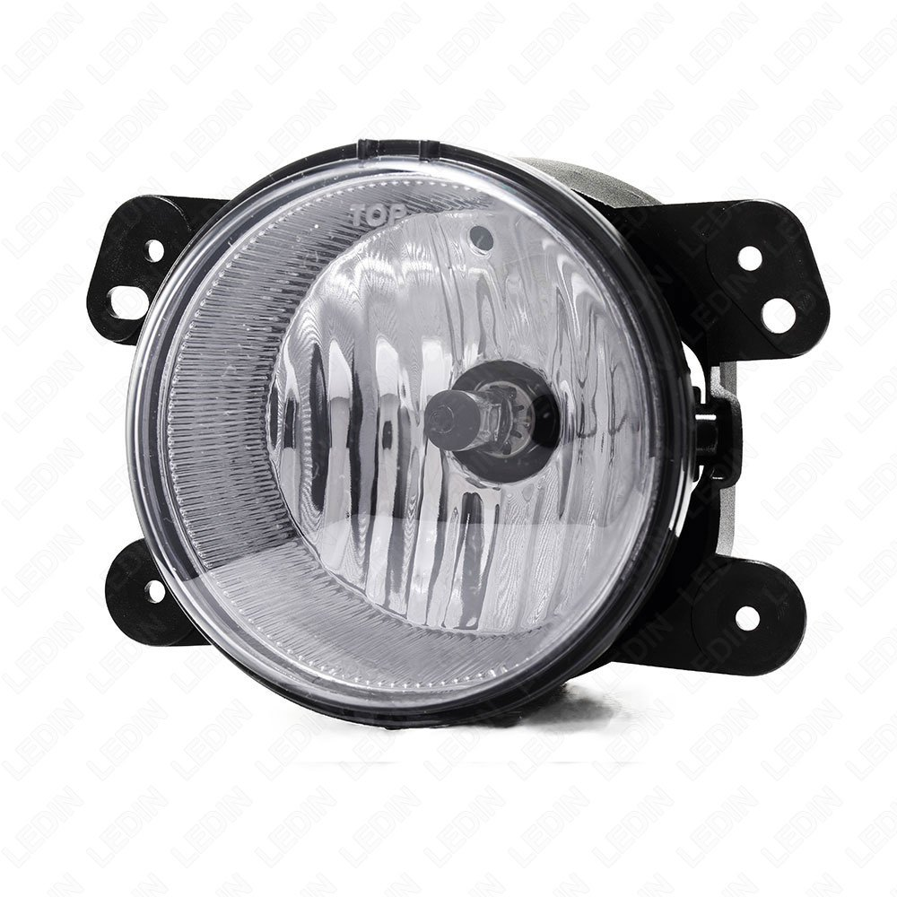 LEDIN Compatible SMOKE Lens Front Bumper Fog Driving Light Assembly with Switch Bulbs Bezel Replacement For 2011-2014 Dodge Charger