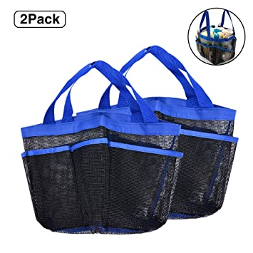 cea34f743bed Rosoz Portable Mesh Shower Caddy, Quick Dry Shower Tote Hanging Bath &  Toiletry Organizer Bag with 8 Mesh Storage Pockets, Double Handles for  Bathroom ...