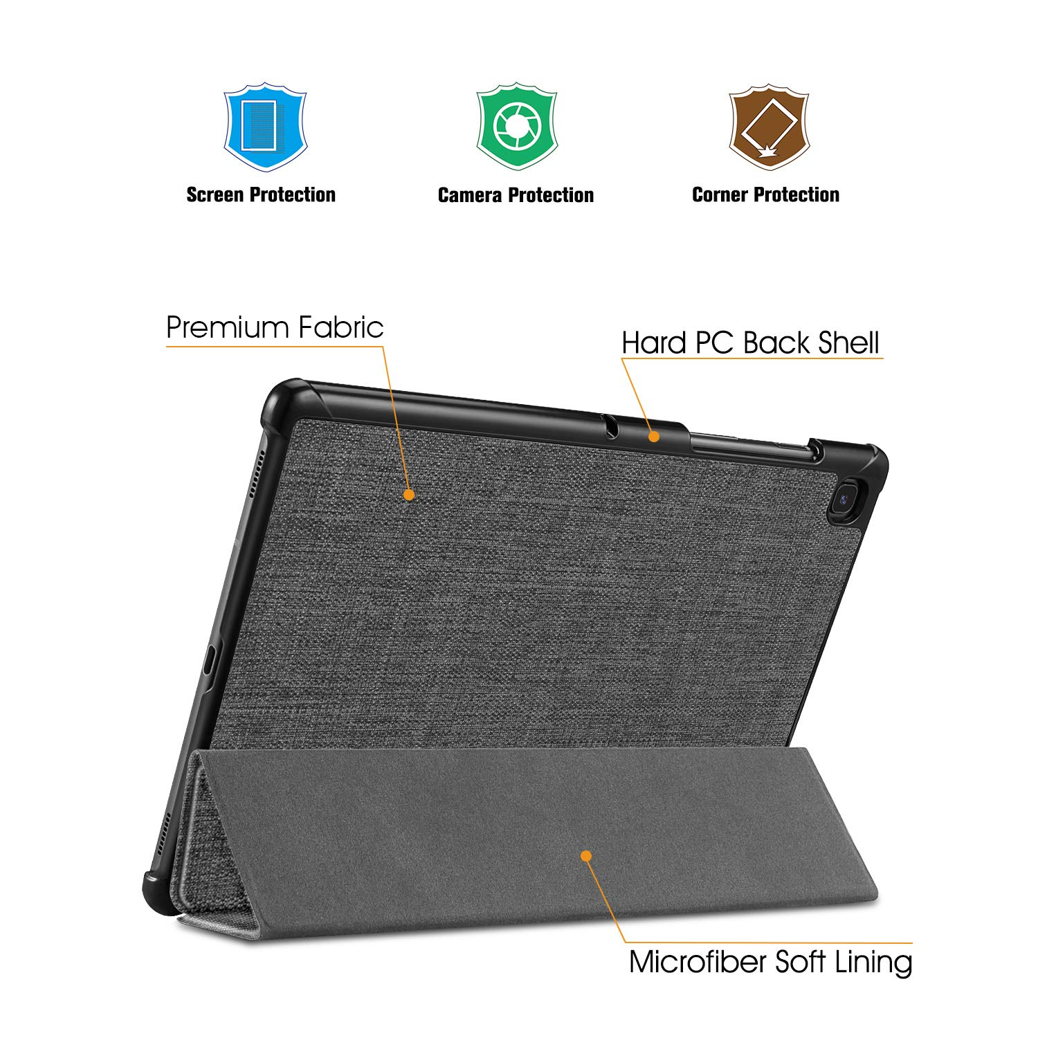 FINTIE SlimShell Case for Samsung Galaxy Tab S5e 10.5 2019 Model SM-T720 Super Thin Lightweight Stand Cover with Auto Sleep//Wake Feature T725 Galaxy