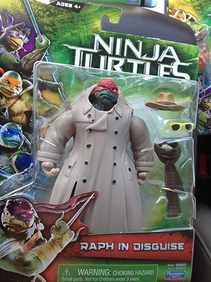 Amazon Com Teenage Mutant Ninja Turtles Tmnt 2014 Movie Basic Action Figure Raph In Trench Coat Toys Games