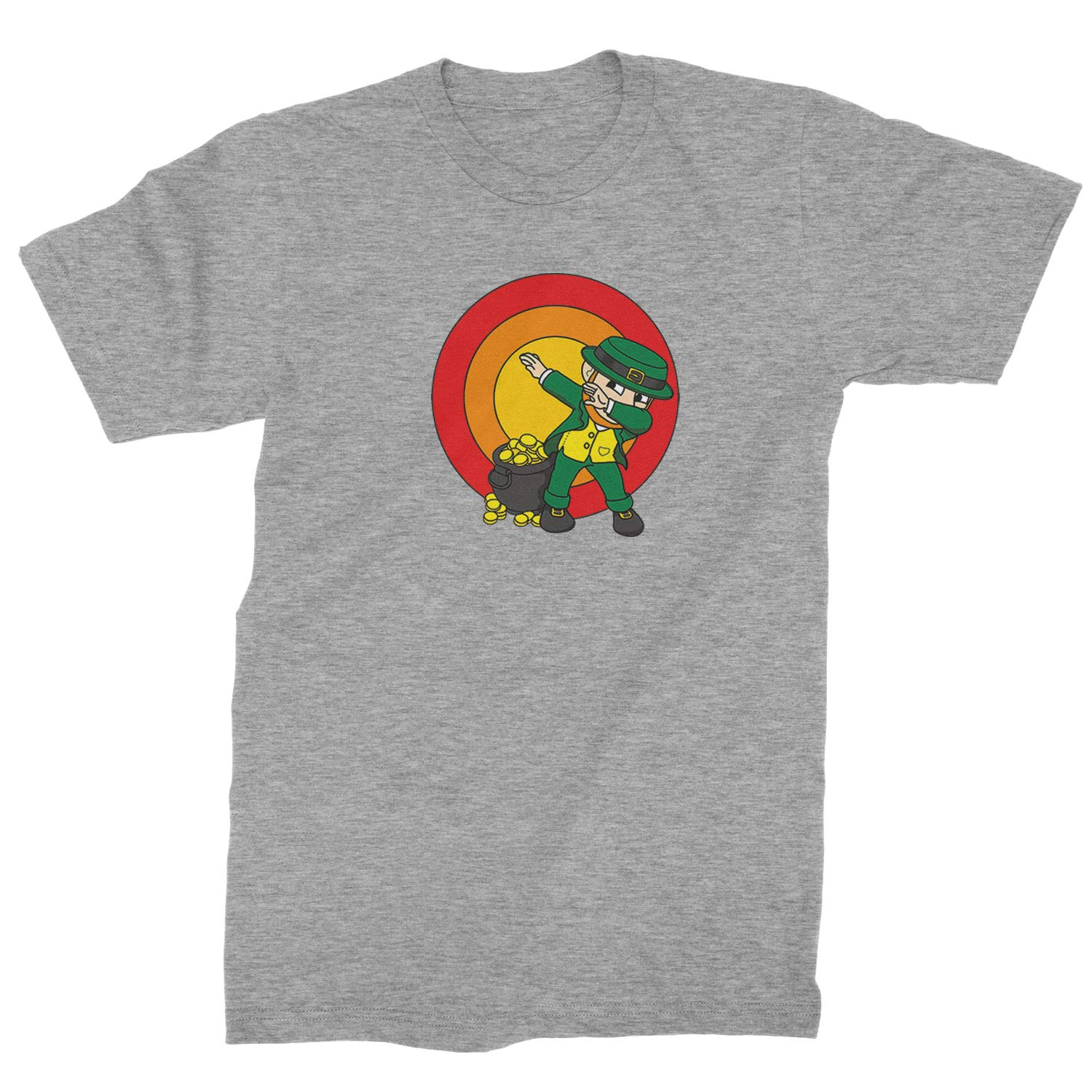 Expression Tees Dabbing Leprechaun Rainbow Mens T-Shirt