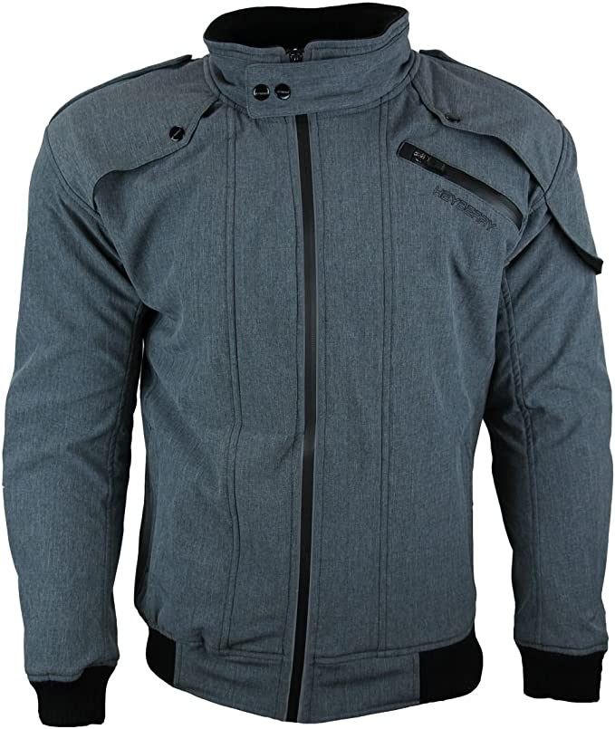 Heyberry Soft Shell Motorradjacke Textil Grau Meliert Gr Xxl Auto