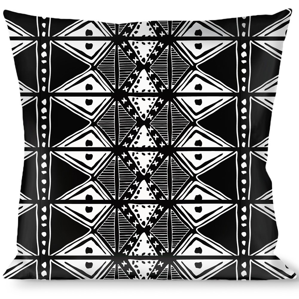 Buckle Down Tribal1 Black/White Throw Pillow, Multicolor