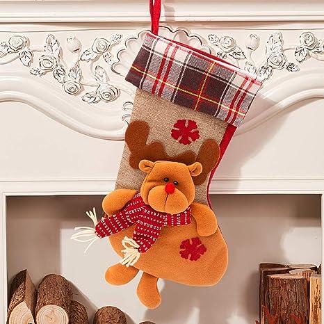 "SPECOOL Conjunto de Medias Colgantes de Navidad 17""Calcetines de Navidad Grandes Calcetines de Navidad"