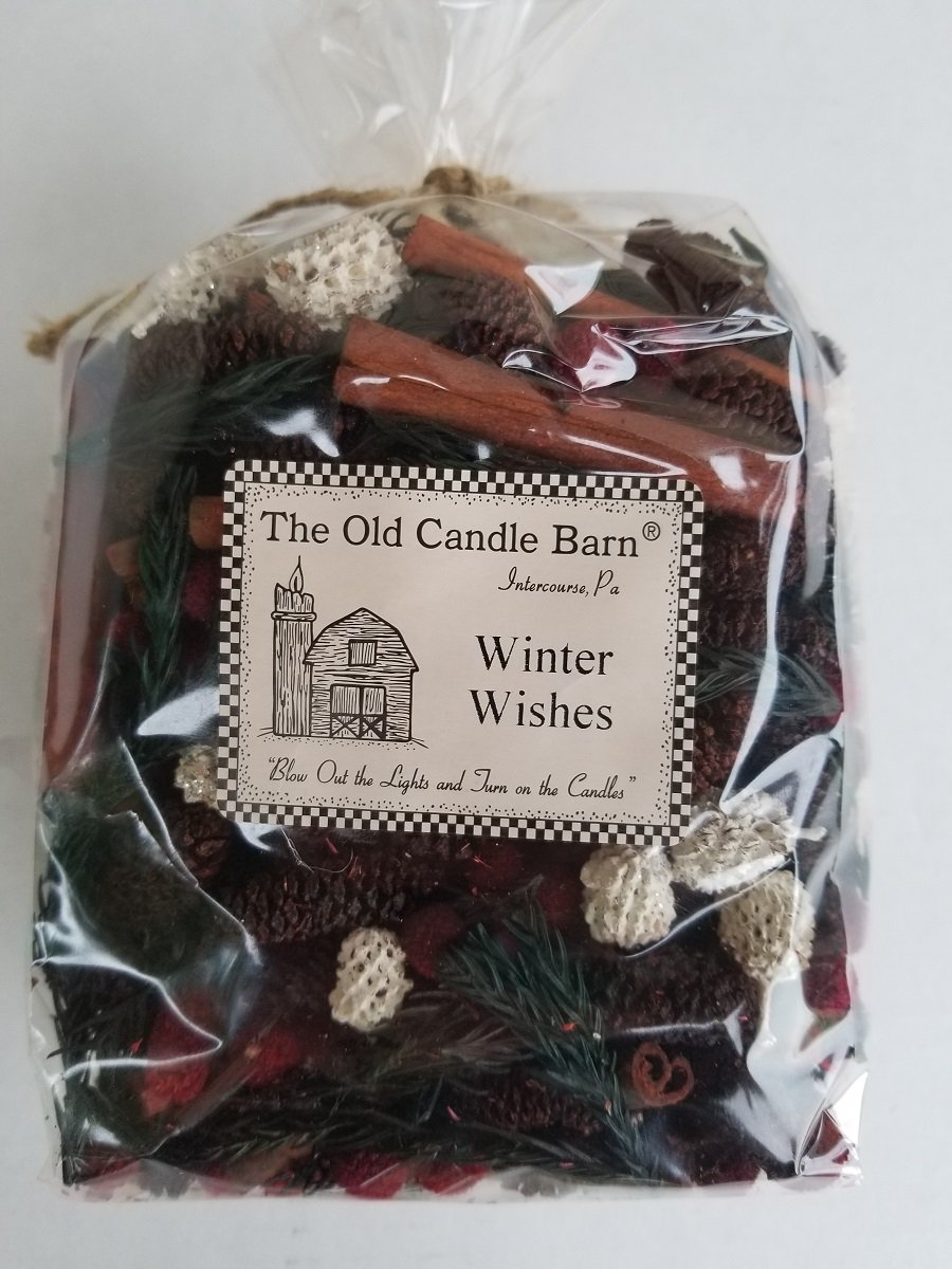 Winter Wishes Potpourri Large Bag - Perfect Winter or Christmas Decoration or Bowl Filler - Well Scented and Made in The USA by Old Candle Barn