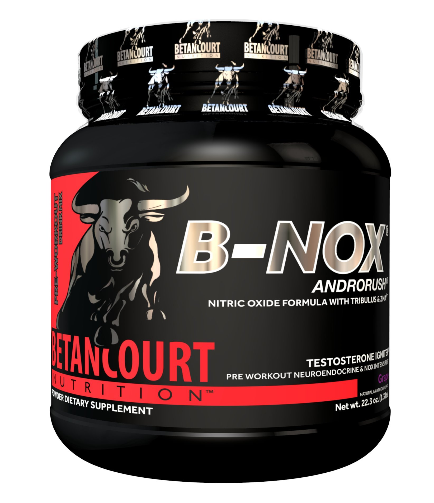 Betancourt Nutrition - B-NOX Androrush, Promotes A Better Pre-Workout By Supporting The Natural Testosterone Response To Exercise, Grape, 22.3 oz (35 Servings)