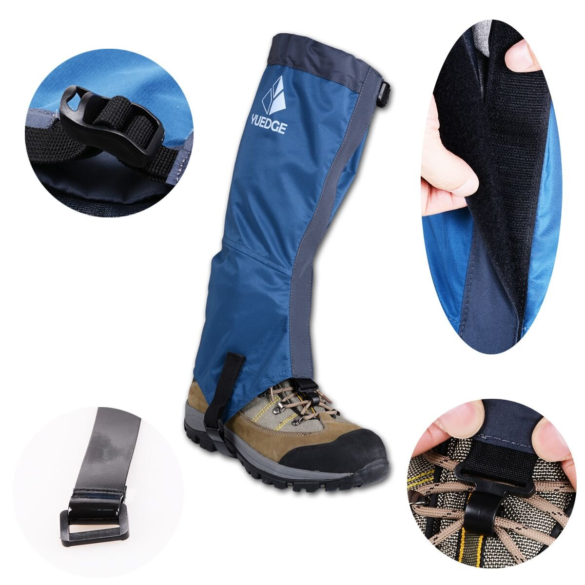YUEDGE Waterproof Breathable Leg Gaiters for Outdoor Fishing, Research, Hunting, Trimming grass (Blue) by YUEDGE (Image #5)