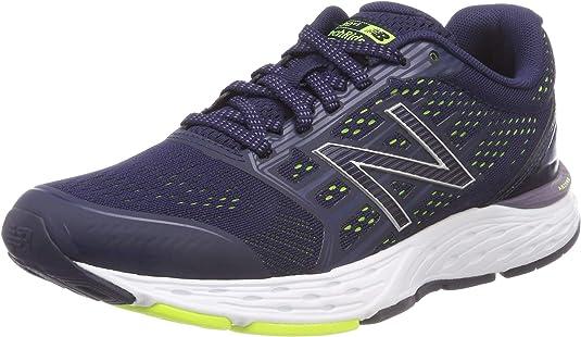 New Balance 680v5, Zapatillas de Running para Mujer, Multicolor (Pigment/Deep Cosmic Sky/Hi-Lite Cv5), 41.5 EU: Amazon.es: Zapatos y complementos