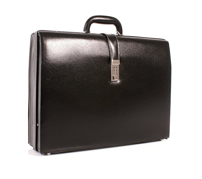 Cuir de luxe Deluxe Faux Executive Attache Case Porte-documents Gladstone Flight Bag