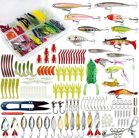 Lot 56PCS Fishing Lures Set Minnow Bait Kit Wobblers Crankbait Tackle Hook Bass