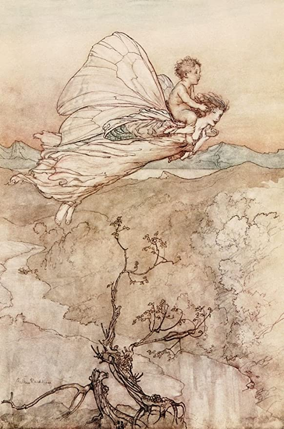 Amazon Com A Midsummer Nights Dream 1908 Her Fairy Sent Poster Print By Arthur Rackham 18 X 24 Posters Prints