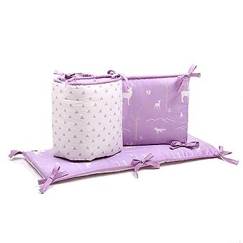 Amazon.com: Púrpura Bosque Animal Reversible para bebés Cuna ...
