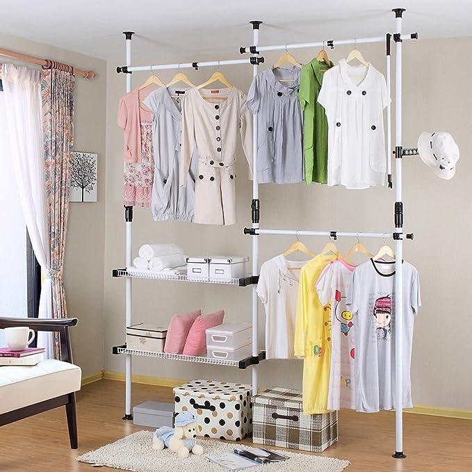 TOP-MAX telescópica armario ropa accesorio de ajustable ropa ...