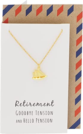 gold tone boat necklace