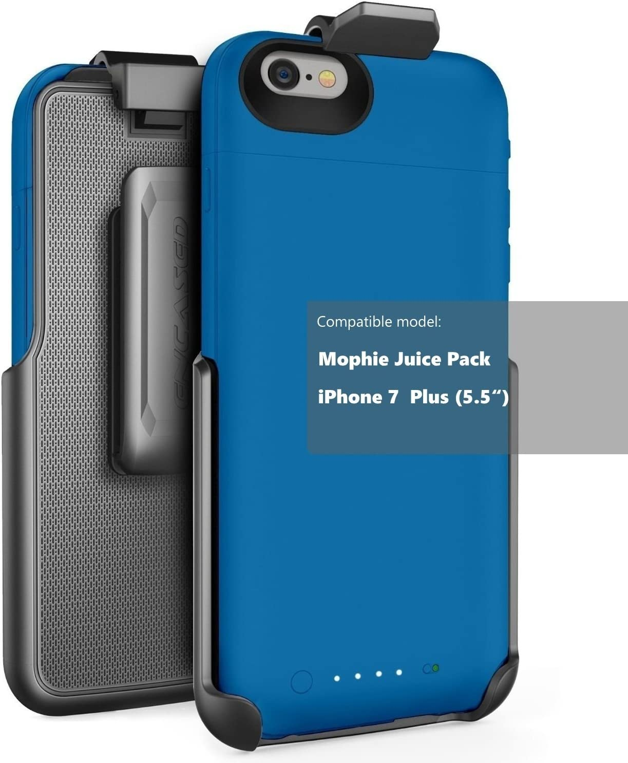 Encased Belt Clip Holster fits Mophie air and Mophie Plus Juice Pack Battery Case - iPhone 8 Plus / iPhone 7 Plus (5.5
