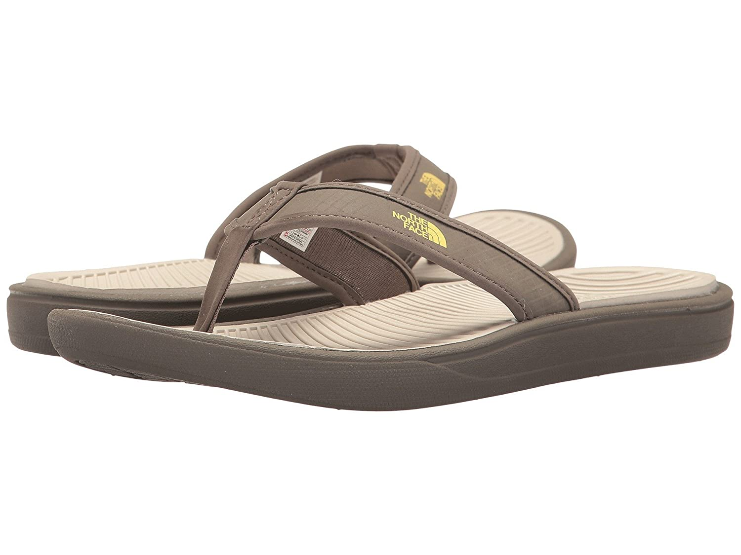 4185d367fb86 THE NORTH FACE Base Camp Lite Flip-Flop Women s Falcon Brown Rainy Day  Ivory Medium   6 D(M) US  Buy Online at Low Prices in India - Amazon.in