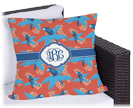 Amazon.com: Blue Parrot exterior almohada (personalizada ...