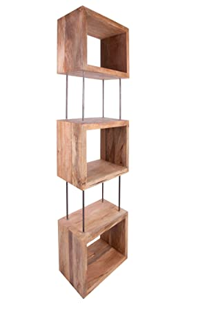 funky style reclaimed wood square box shape bookshelvesbookcases made from solid recycled wood - Funky Bookshelves