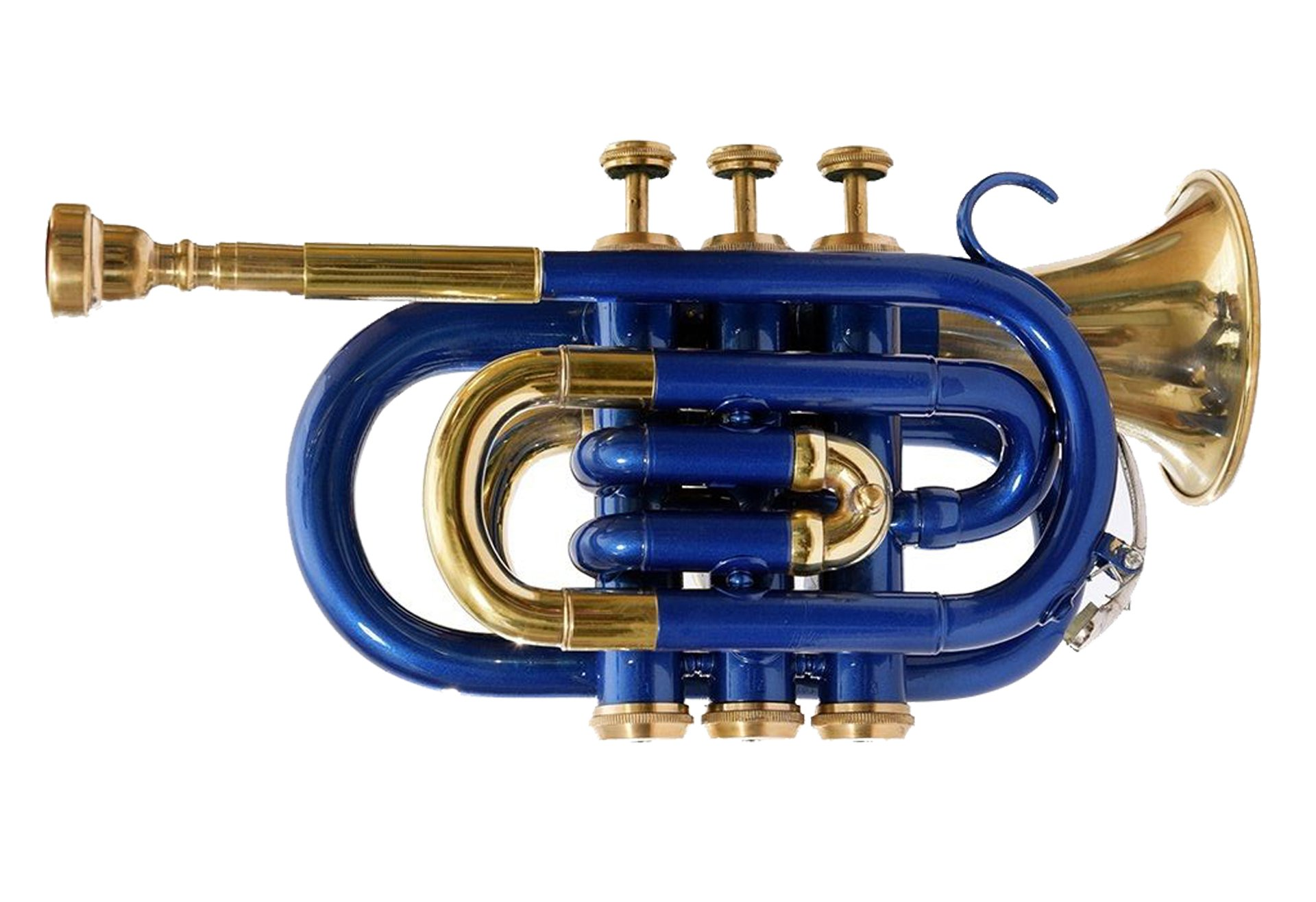 SHREYAS Ptr-147 Pocket Trumpet B-Flat Blue