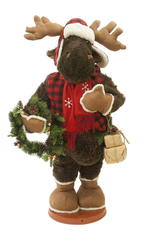 Moose Elyte Retail Plüsch faltbar Animiert in 3 Designs – Santa Bear Elch 900 mm hoch Moose