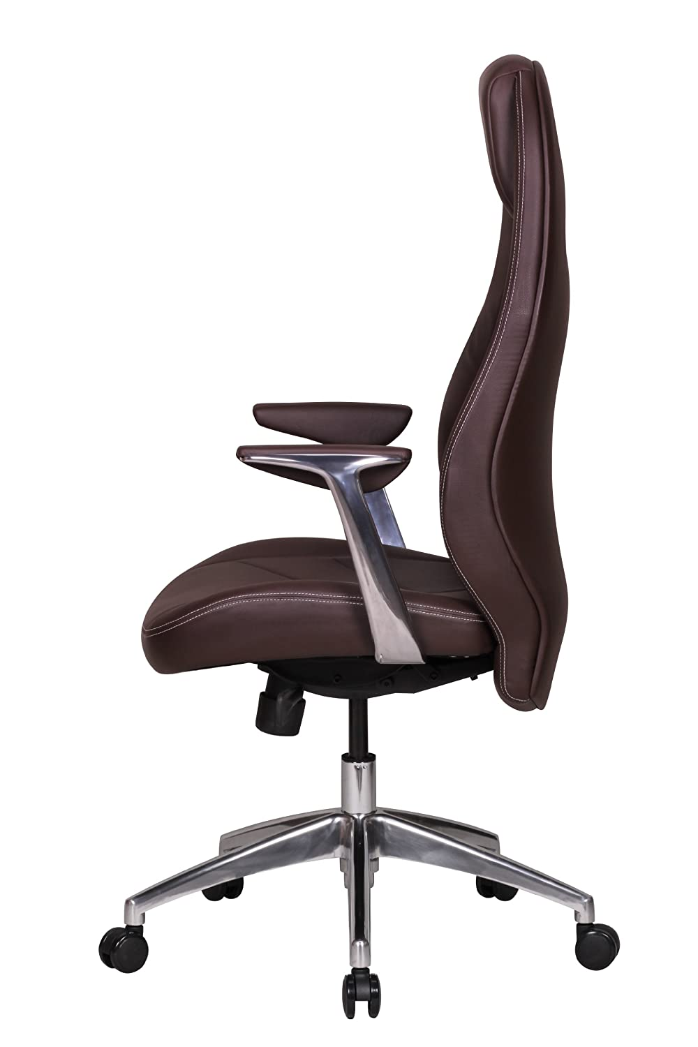 office recliner chair. Leather Executive Office Chair Brown Computer Work Desk High Back Furniture New: Amazon.co.uk: Kitchen \u0026 Home Recliner