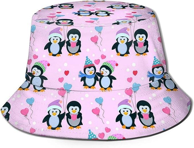 Penguins and Birds Unisex Outdoor Sun Fisherman Bucket Caps Beach Hats