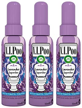 Air Wick Spray V.I. Poo anti olor Perfume Lavanda Superstar 55 ml - juego de 3: Amazon.es: Salud y cuidado personal