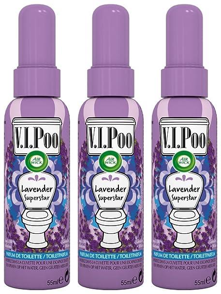 Air Wick Spray V.I. Poo anti olor Perfume Lavanda Superstar 55 ml – juego de 3
