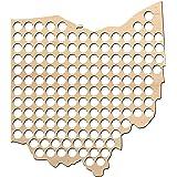 Ohio Beer Cap Map - 20x23 inches - 154 caps - Beer Cap Holder Ohio - Birch Plywood …