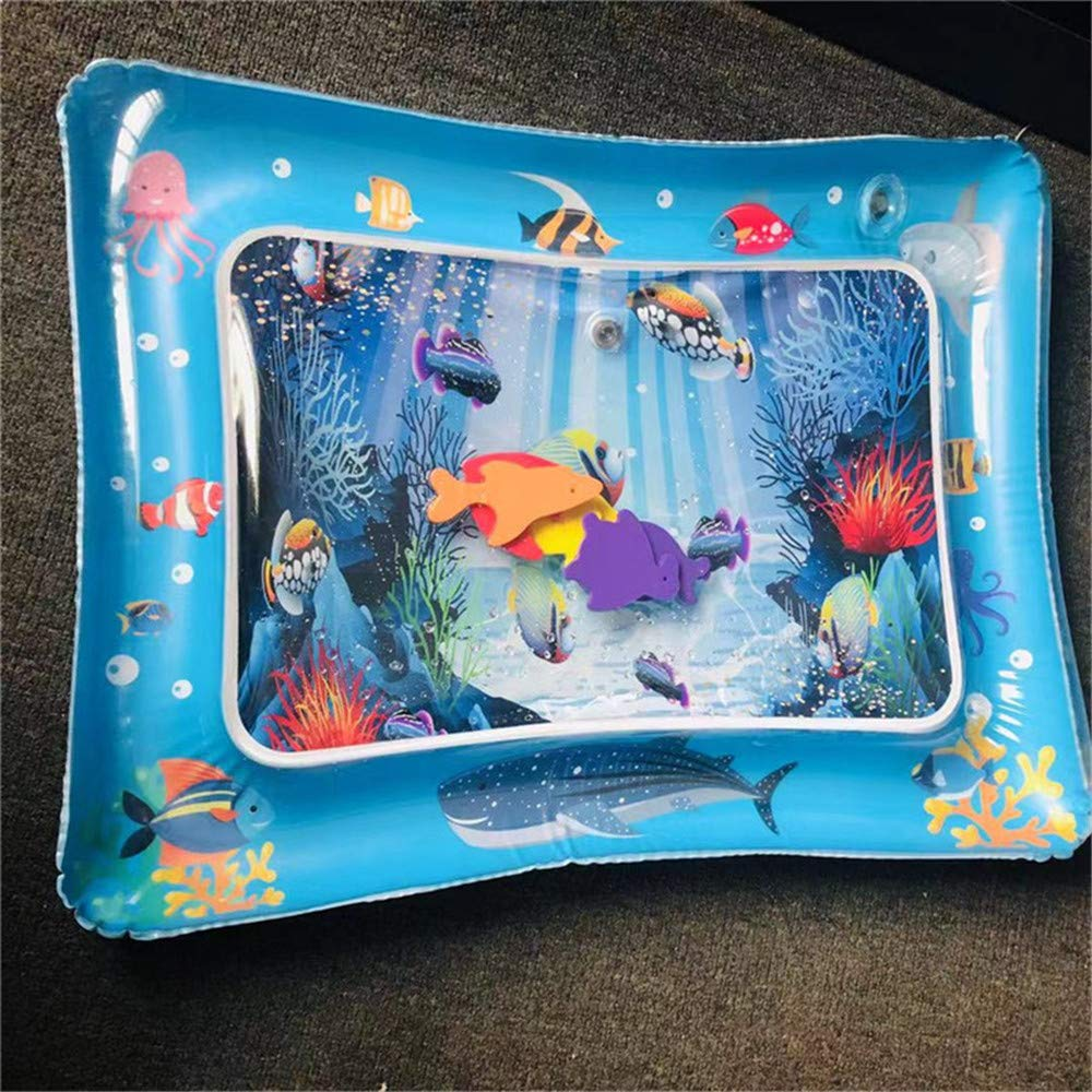 uramiracle Inflatable Water Play Mat Infants Fun Tummy Time Kids Baby Play Activity Center C