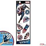 ZapZap Stickers Capitan America Shield Vinile Adesivo 4 x 4 Dimensioni