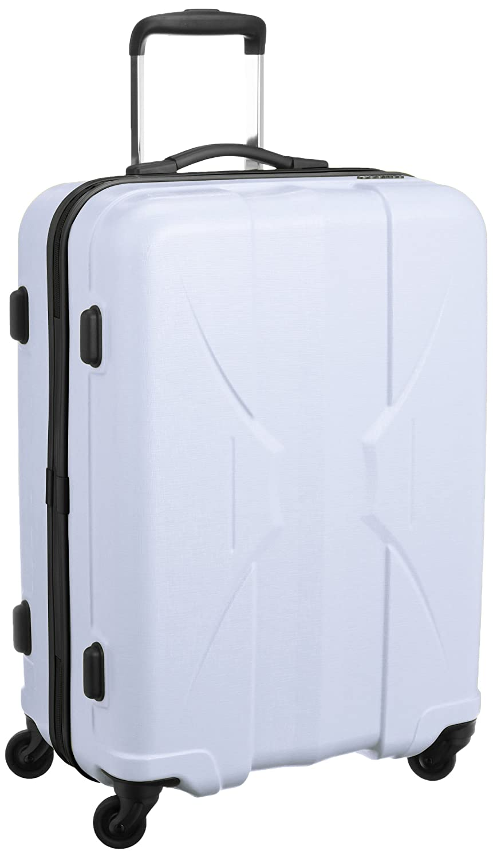 [サンコー] 四季颯 スーツケース shikisou軽量 マクロロン中型 国産 容量53L 縦サイズ64cm 重量2.8kg PSK1-59 B019GHO7COホワイト